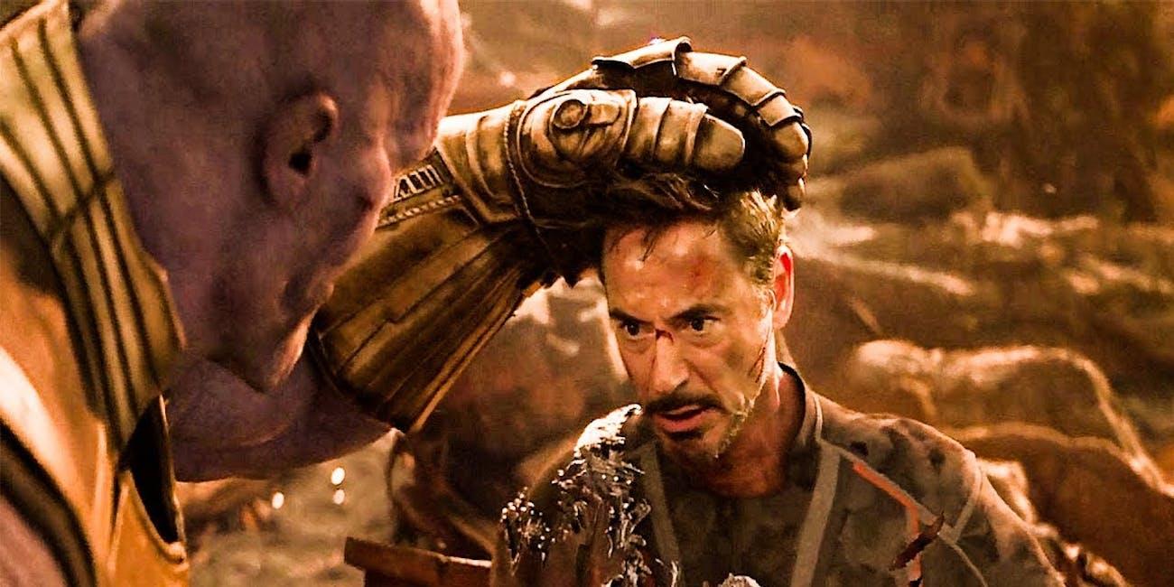 avengers infinity war thanos iron man