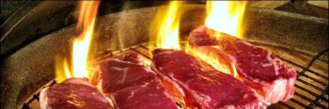 grilled steak meat sweats