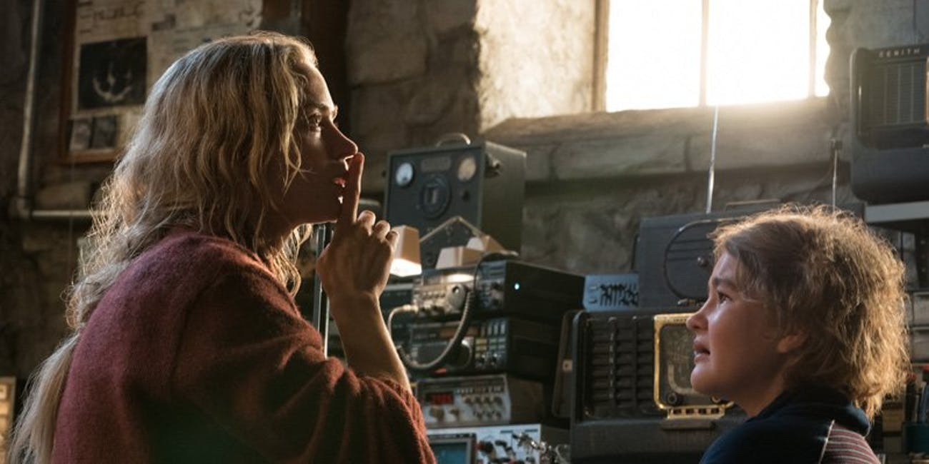 Emily Blunt plays a lead character opposite Krasinski in 'A Quiet Place'.