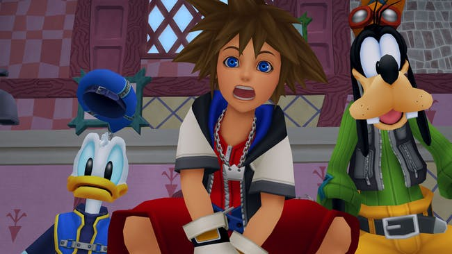 Donald, Sora, and Goofy in 'Kingdom Hearts'.
