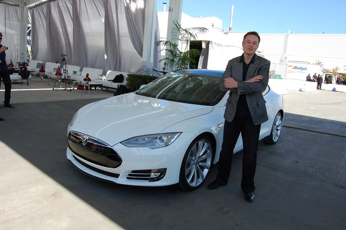 Elon Musk, Tesla Factory, Fremont (CA, USA)