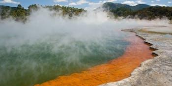 Waiotapu Lake, New Zealand