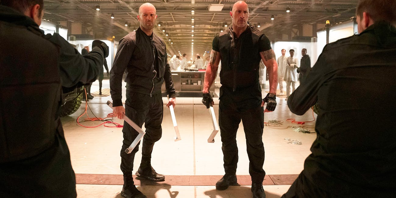 Fast and Furious Hobbs and Shaw Dwayne Johnson Jason Statham