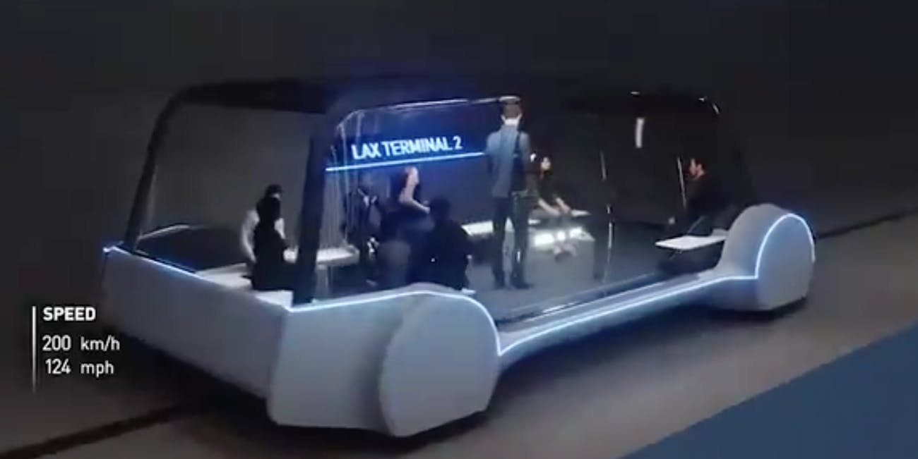 Boring Company autonomous underground bus