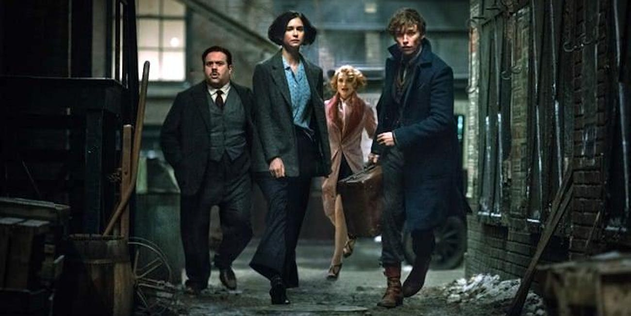 Newt, Queenie, Tina and Jacob in 'Fantastic Beasts and Where to Find Them'