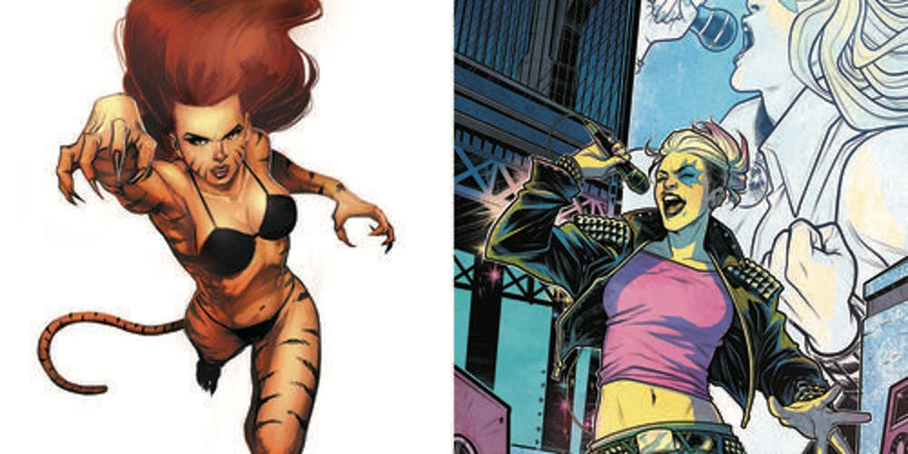 Tigra and Dazzler, as seen in Marvel Comics.