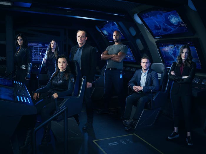 the cast of Marvel's Agents of S.H.I.E.L.D.