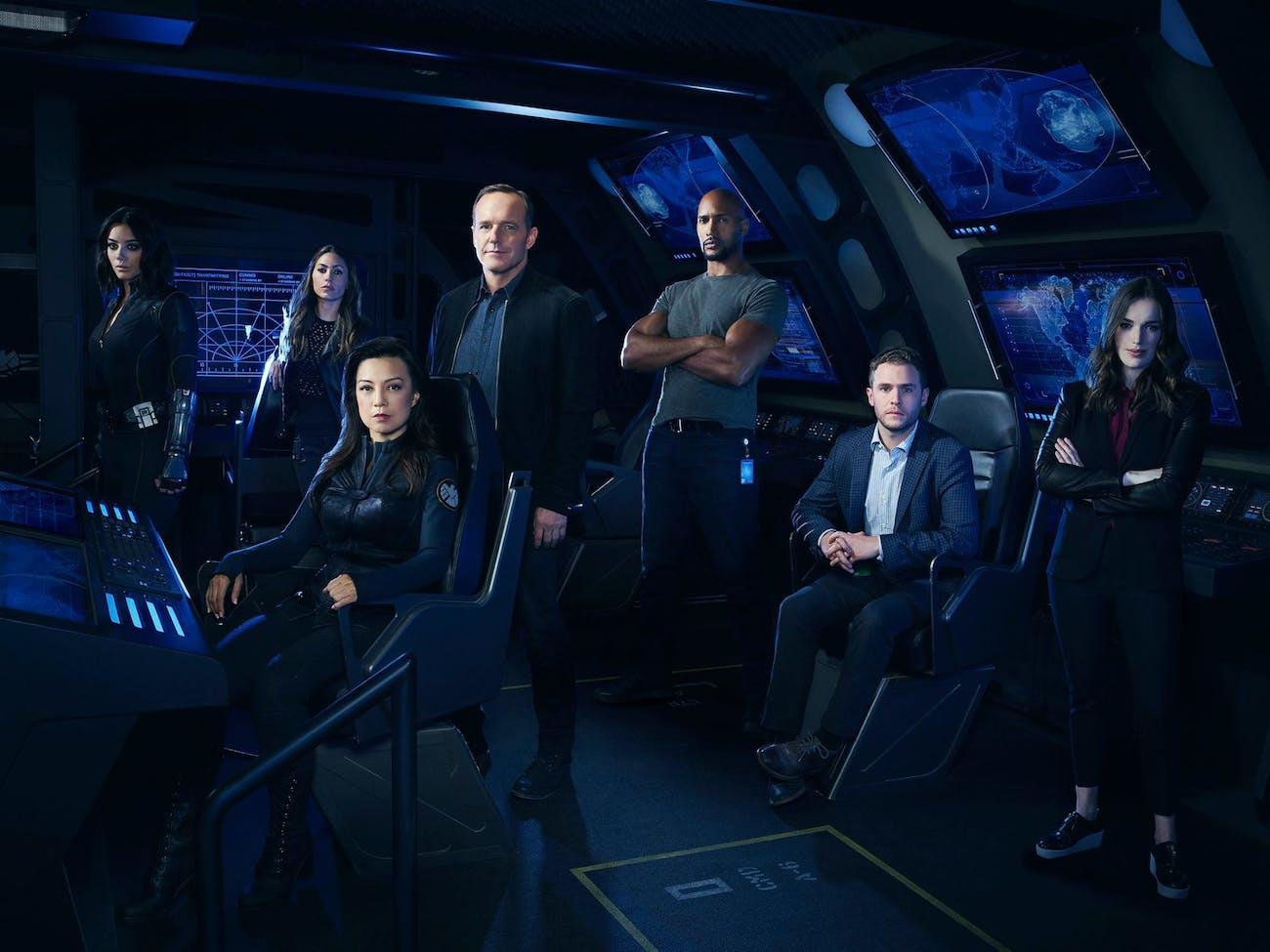 the cast of Marvel's Agents of S.H.I.E.L.D.