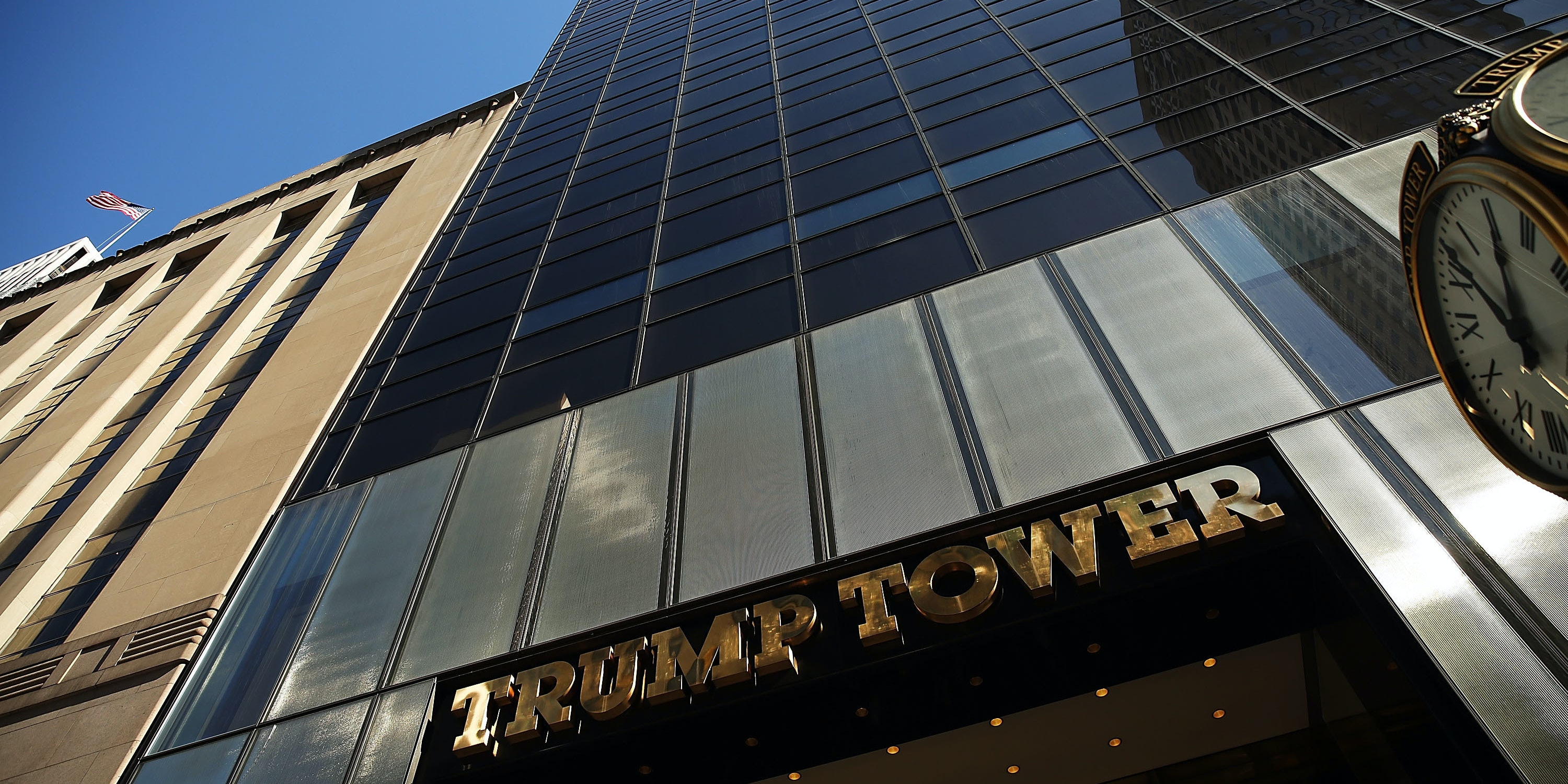 Trump Tower stands on 5th Avenue in Manhattan.