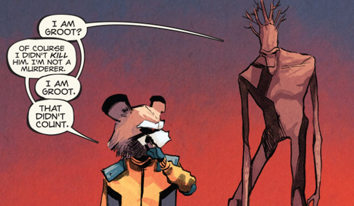 Rocket Racoon and Groot from Marvel Comics