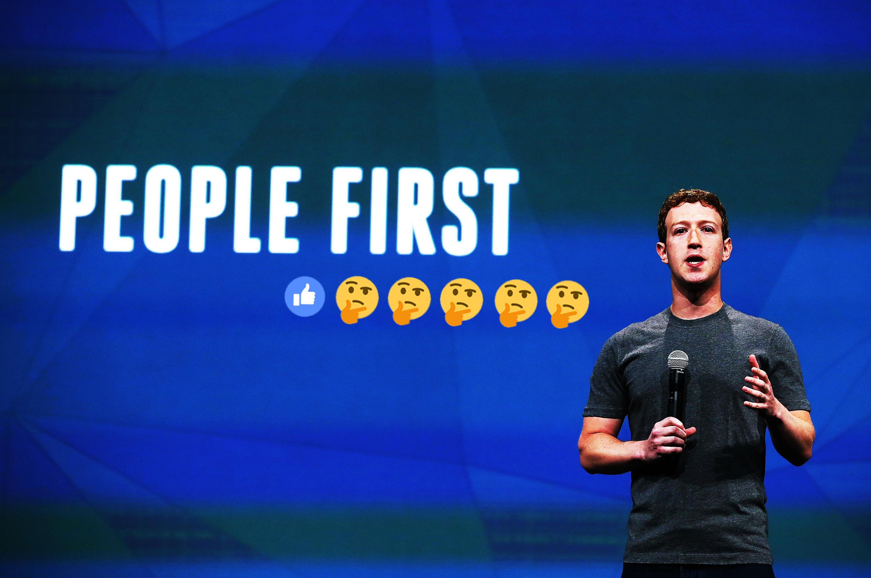 Mark Zuckerberg and one of his many slogans.