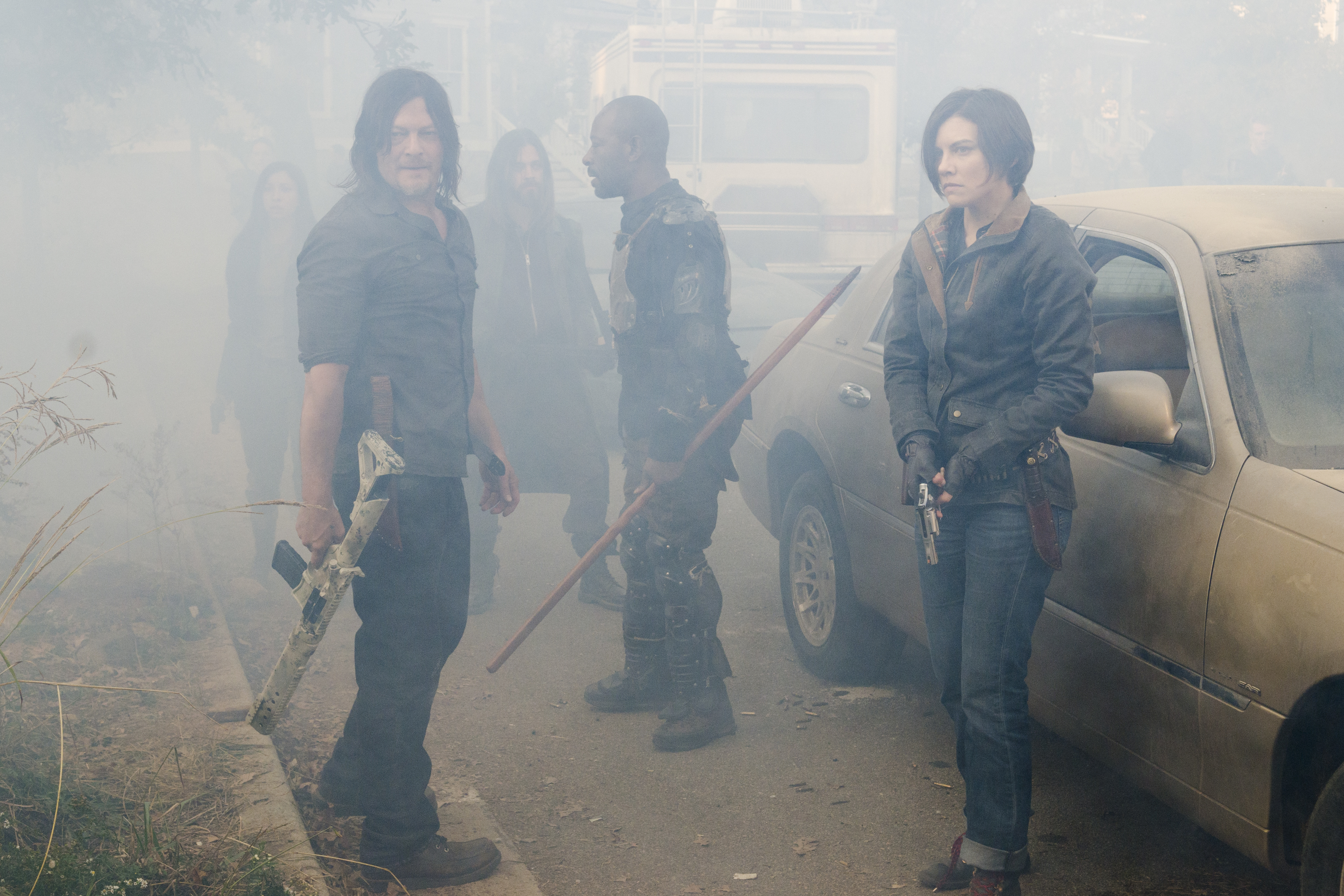 Daryl, Morgan, and Maggie on 'The Walking Dead'