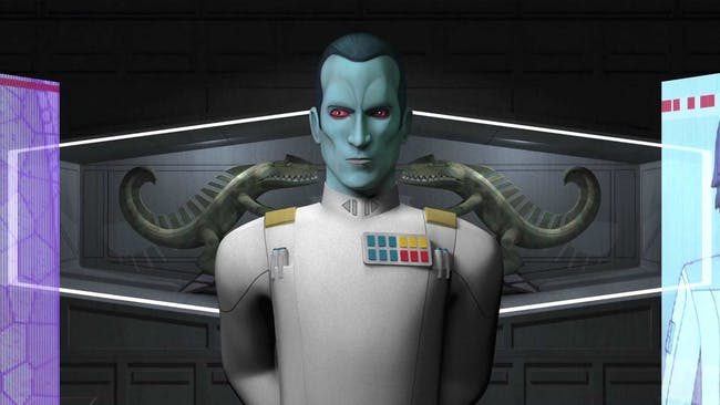 Grand Admiral Thrawn as he appears in 'Star Wars Rebels'.