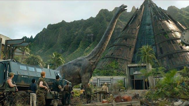 A Brontosaurus in 'Jurassic World: Fallen Kingdom'.