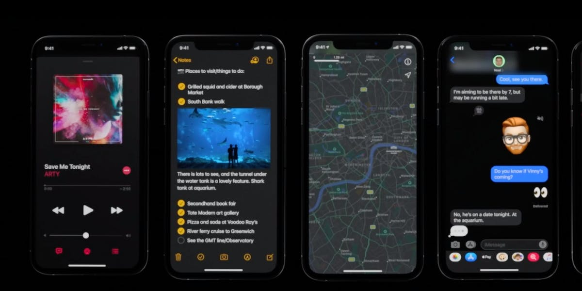 iphone dark mode release date  guide  iphones youll  inverse