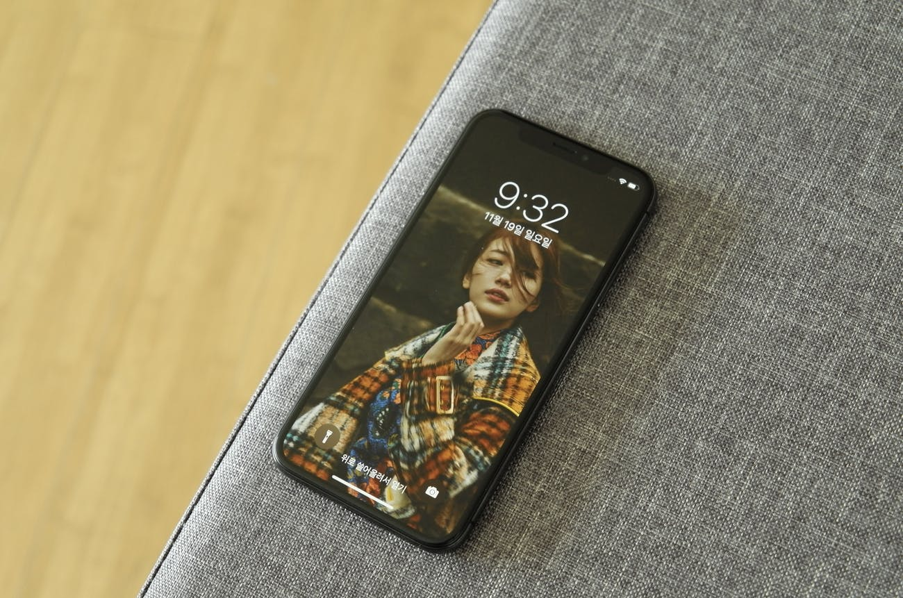 The iPhone X features a large display.