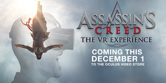 The new Assassin's Creed movie will be previewed at TGA.