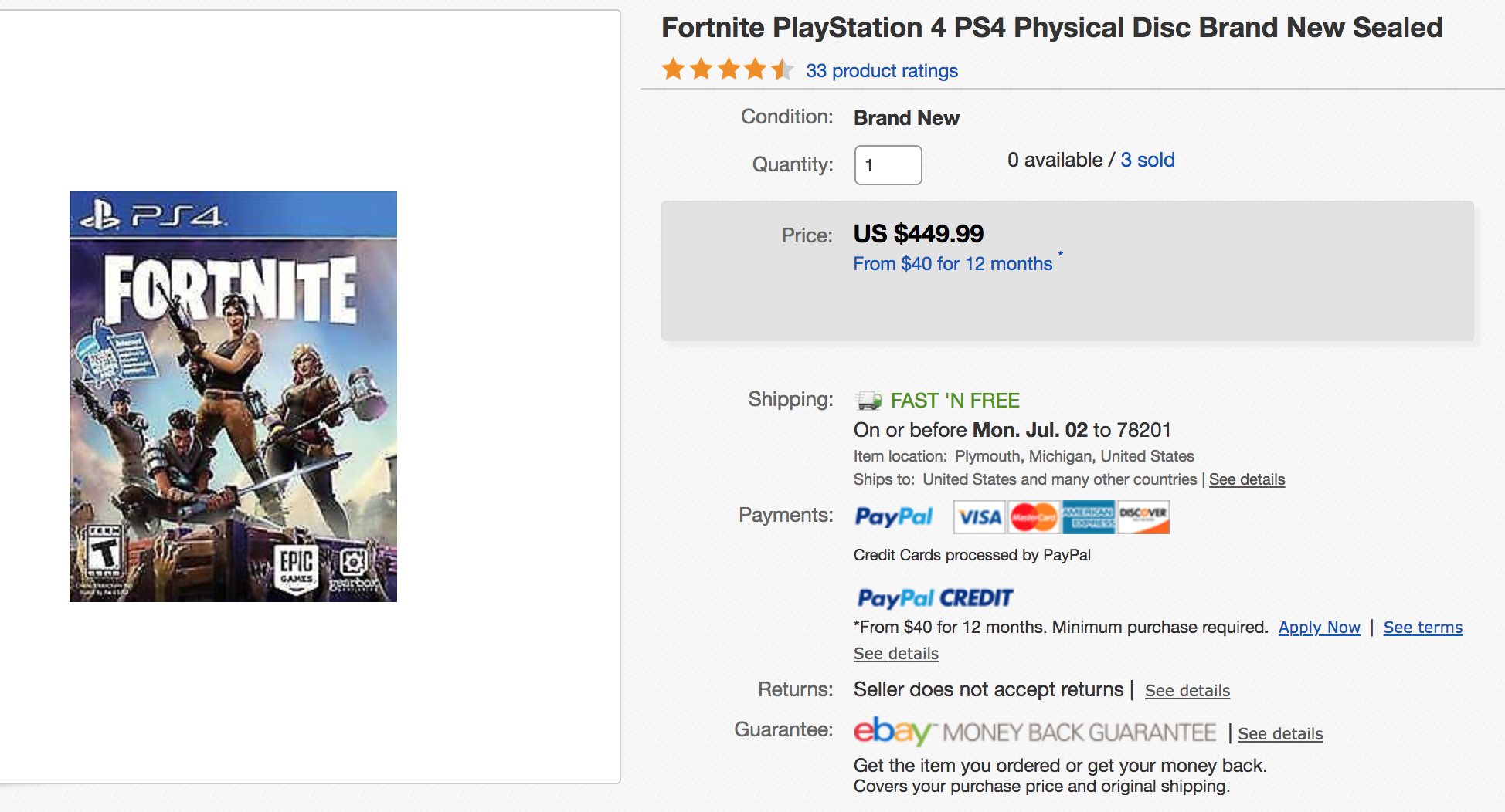 Fortnite Physical Copies Selling For Ridiculous Amounts On Ebay