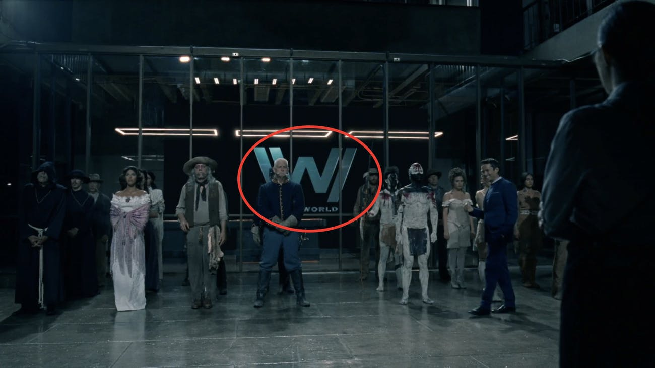 "New school 'Westworld' logo in ""Chestnut."""