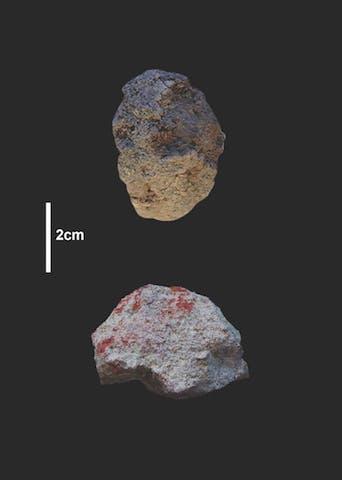 Pigment rocks