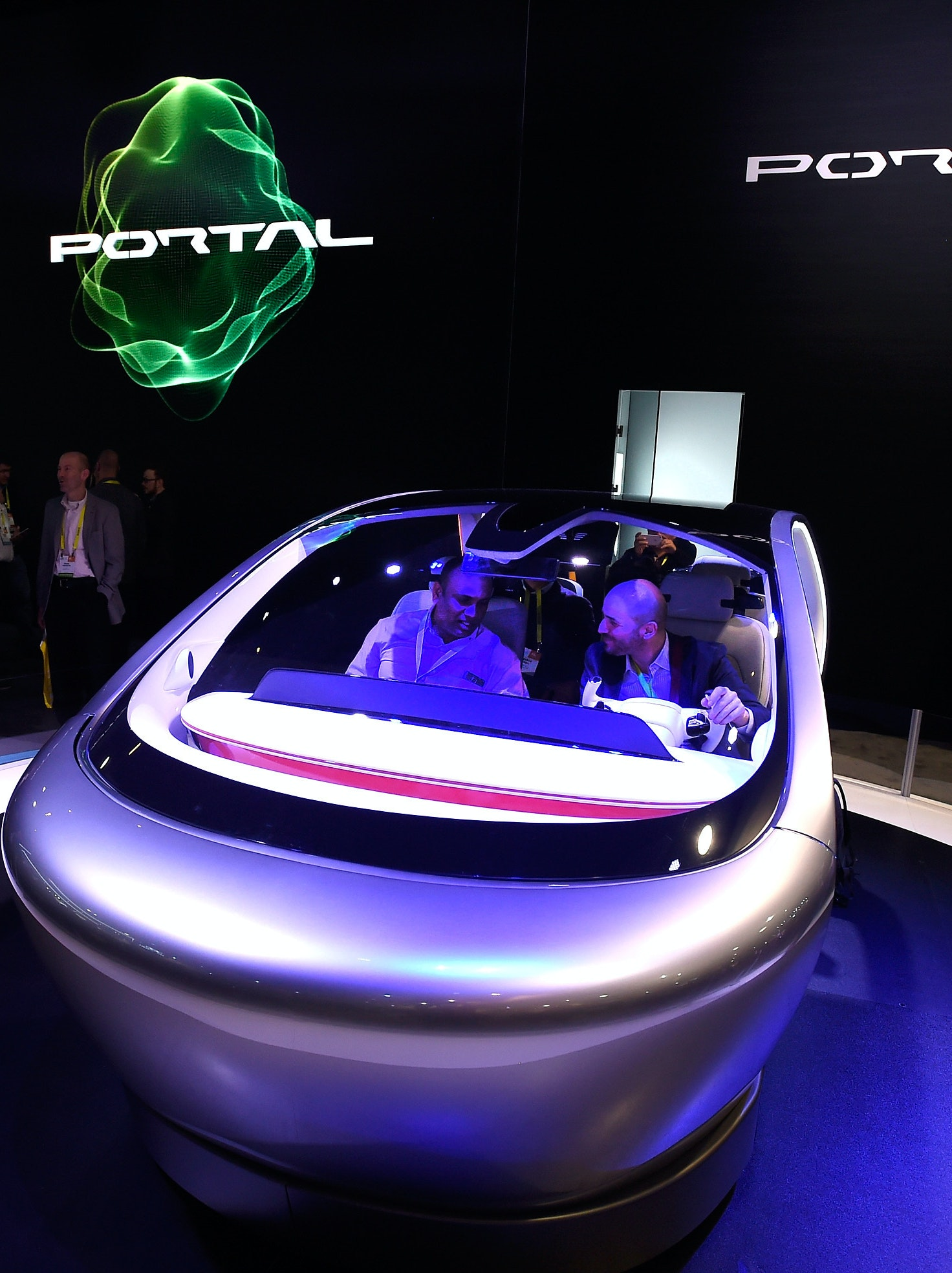 LAS VEGAS, NV - JANUARY 05:  An autonomous self-driving concept vehicle called Portal is diplayed at the Chrysler booth at CES 2017 at the Las Vegas Convention Center on January 5, 2017 in Las Vegas, Nevada. CES, the world's largest annual consumer technology trade show, runs through January 8 and features 3,800 exhibitors showing off their latest products and services to more than 165,000 attendees.  (Photo by David Becker/Getty Images)