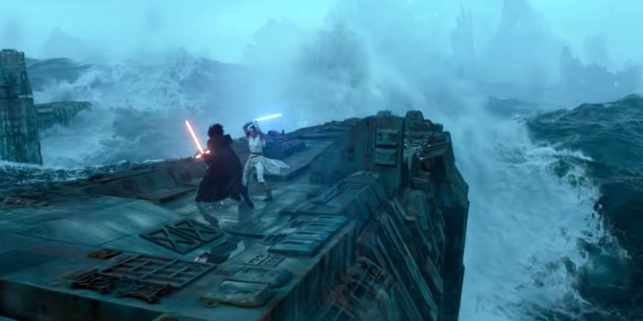 rise of skywalker fight on the death star