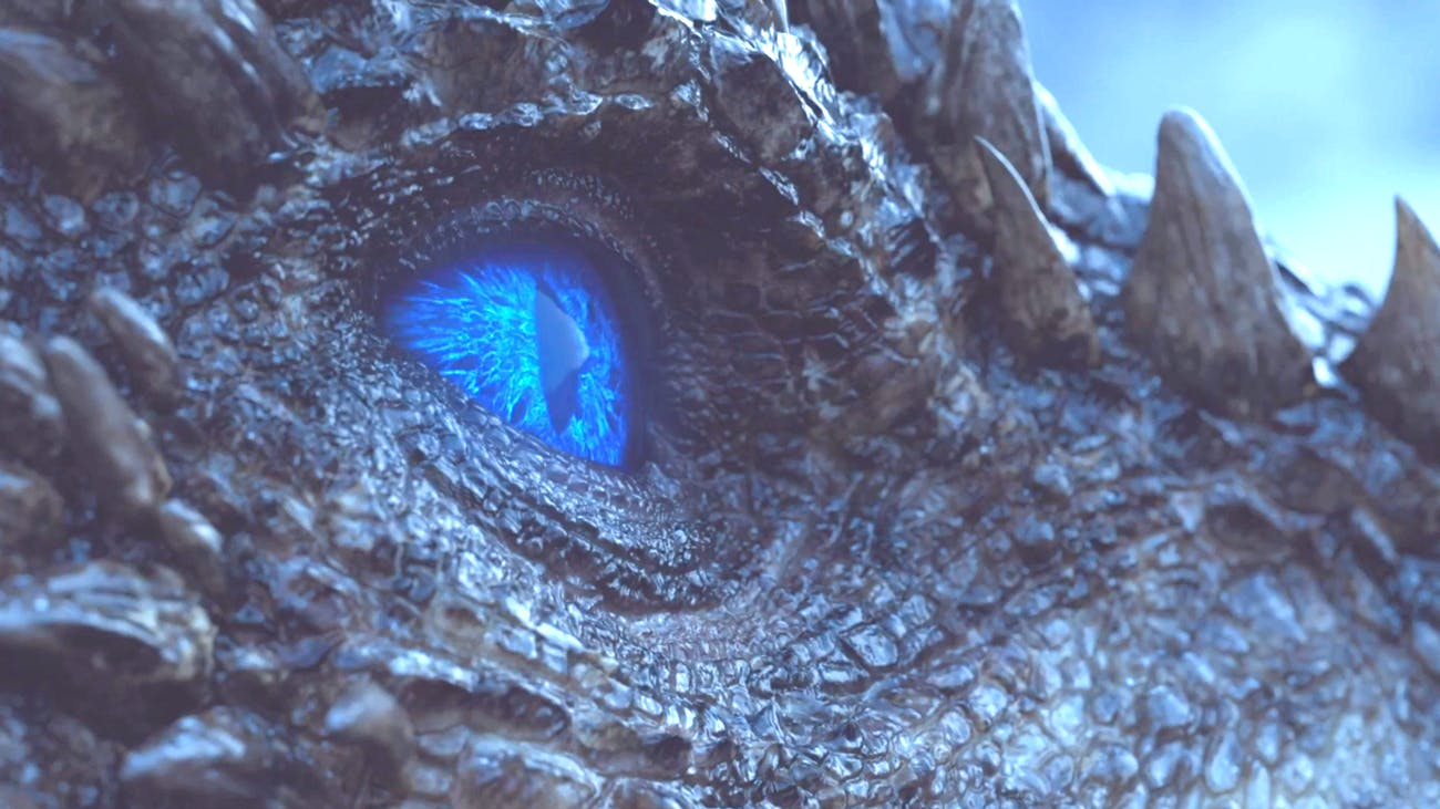 """Viserion in 'Game of Thrones' Season 7 episode 7 """"Beyond the Wall'"""