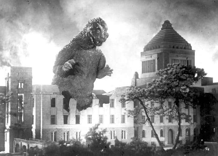 Godzilla attacks Tokyo for the first (but certainly not the last time).