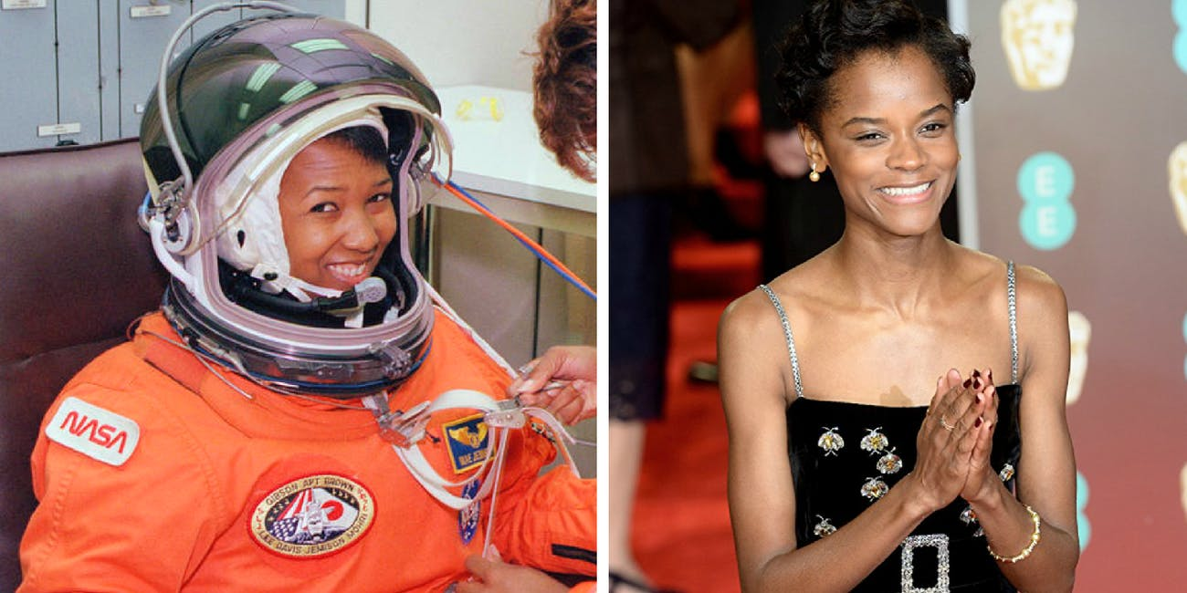Mae Jemison and Leticia Wright.