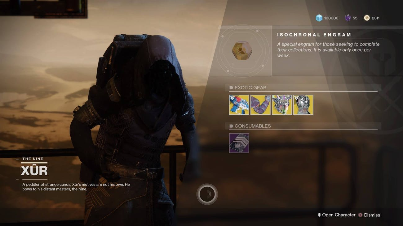 Destiny 2' Xur Location December 7-11: Map, Video, and Items