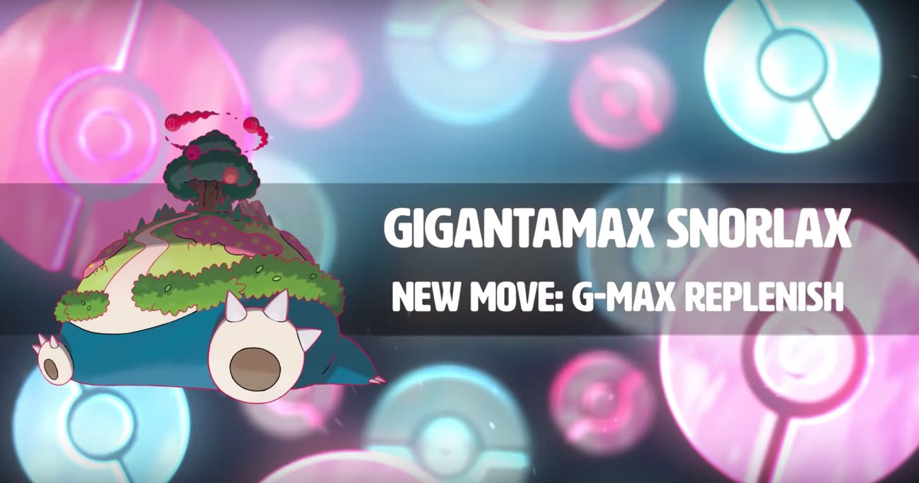 gigantamax snorlax pokemon sword and shield