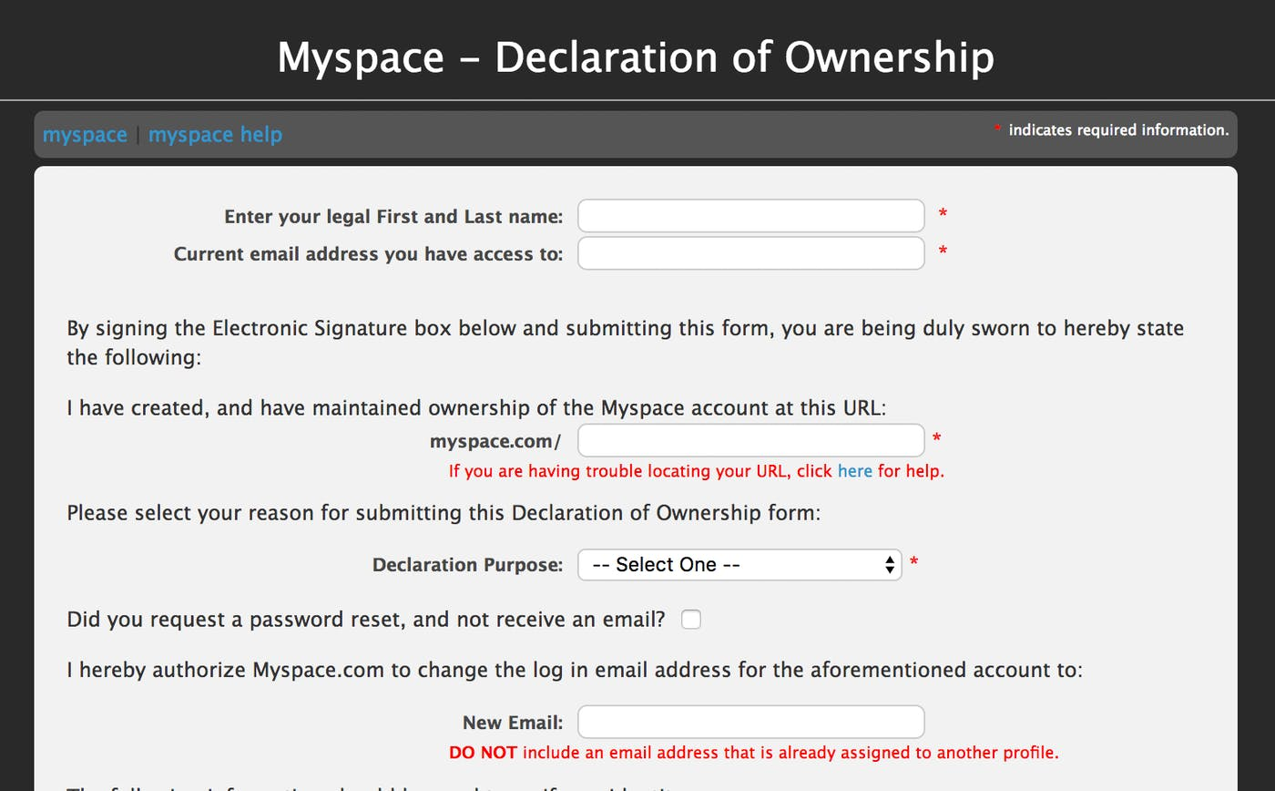 How to Get Your Old MySpace Account Back and Delete It Forever   Inverse
