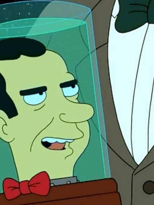 Richard Nixon's head in 'Futurama'