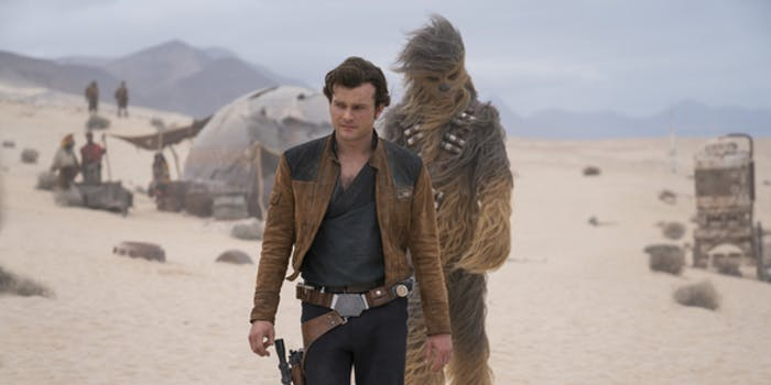 Han and Chewbacca in 'Solo: A Star Wars Story'.