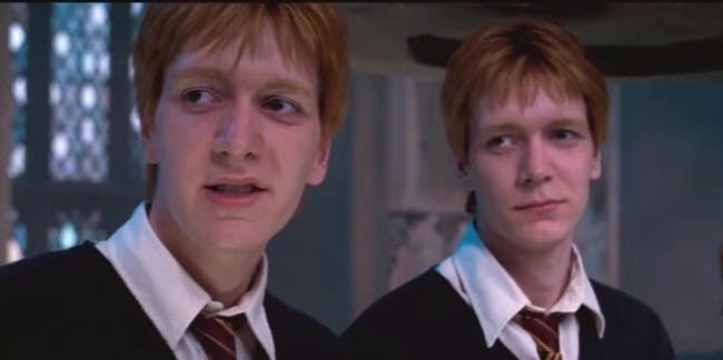 Fred and George Weasley in 'Harry Potter'