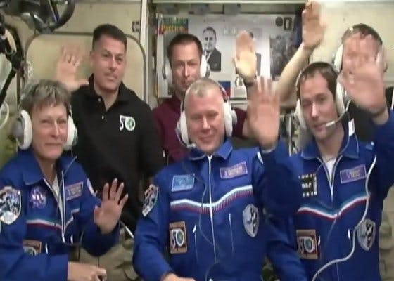The ISS is now back to full staff.