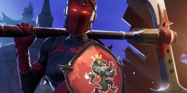 The Red Knight is back in 'Fortnite: Battle Royale', but players couldn't get the Red Shield back bling at first.