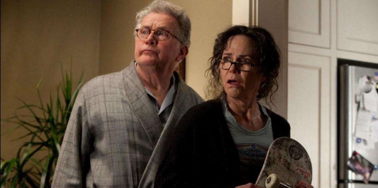 Martin Sheen and Sally Field as Uncle Ben and Aunt May in 'The Amazing Spider-Man.'