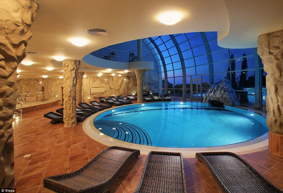 A community pool inside the Vivos Europa One shelter.