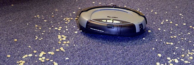roomba vacuum carpet cereal clean robot