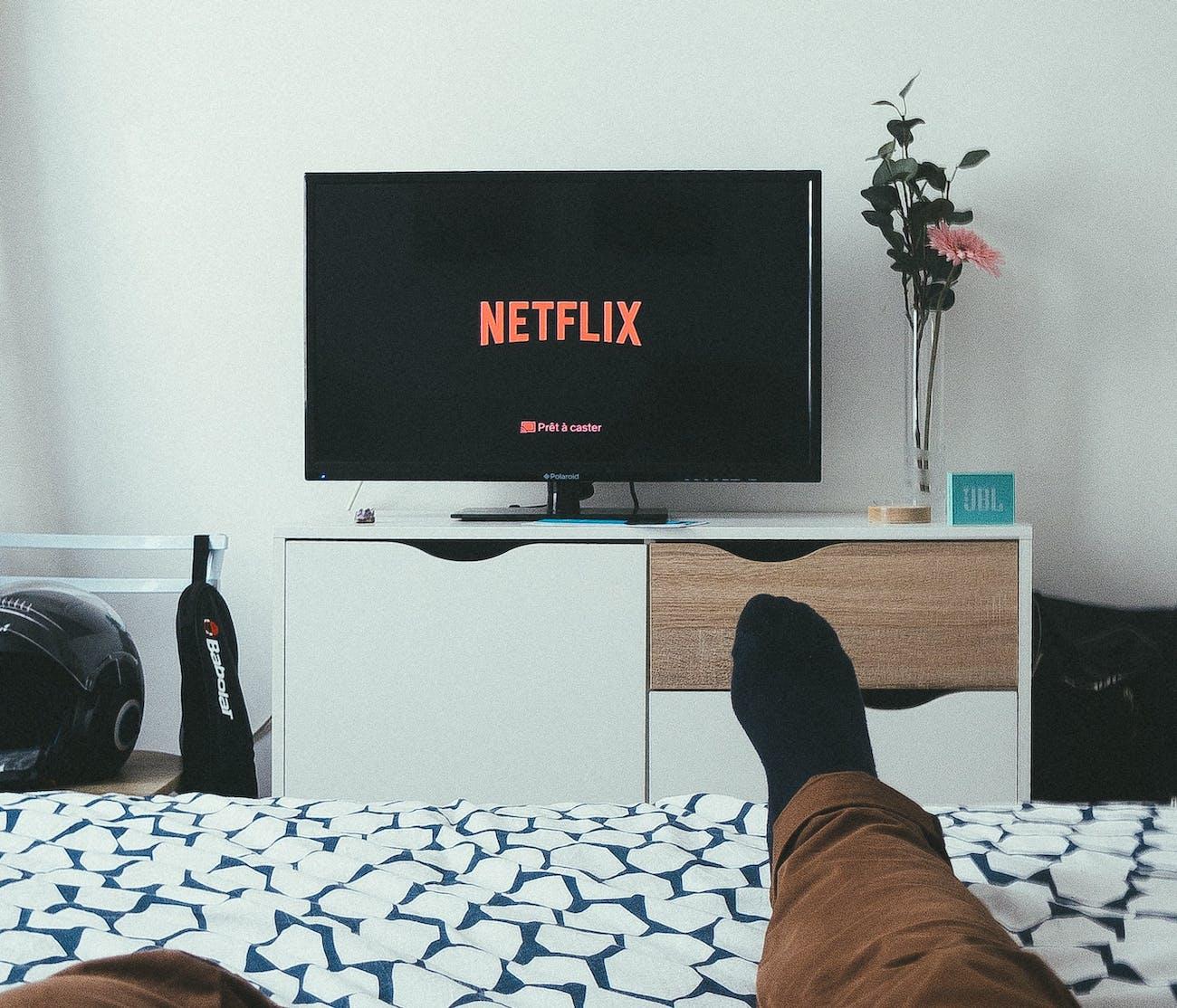 sitting, TV,