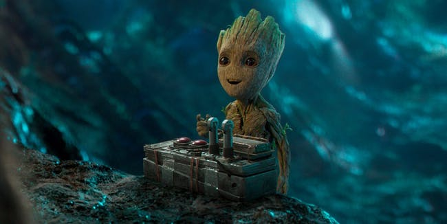 Scene from 'Guardians of the Galaxy vol. 2' featuring Baby Groot for Marvel Studios