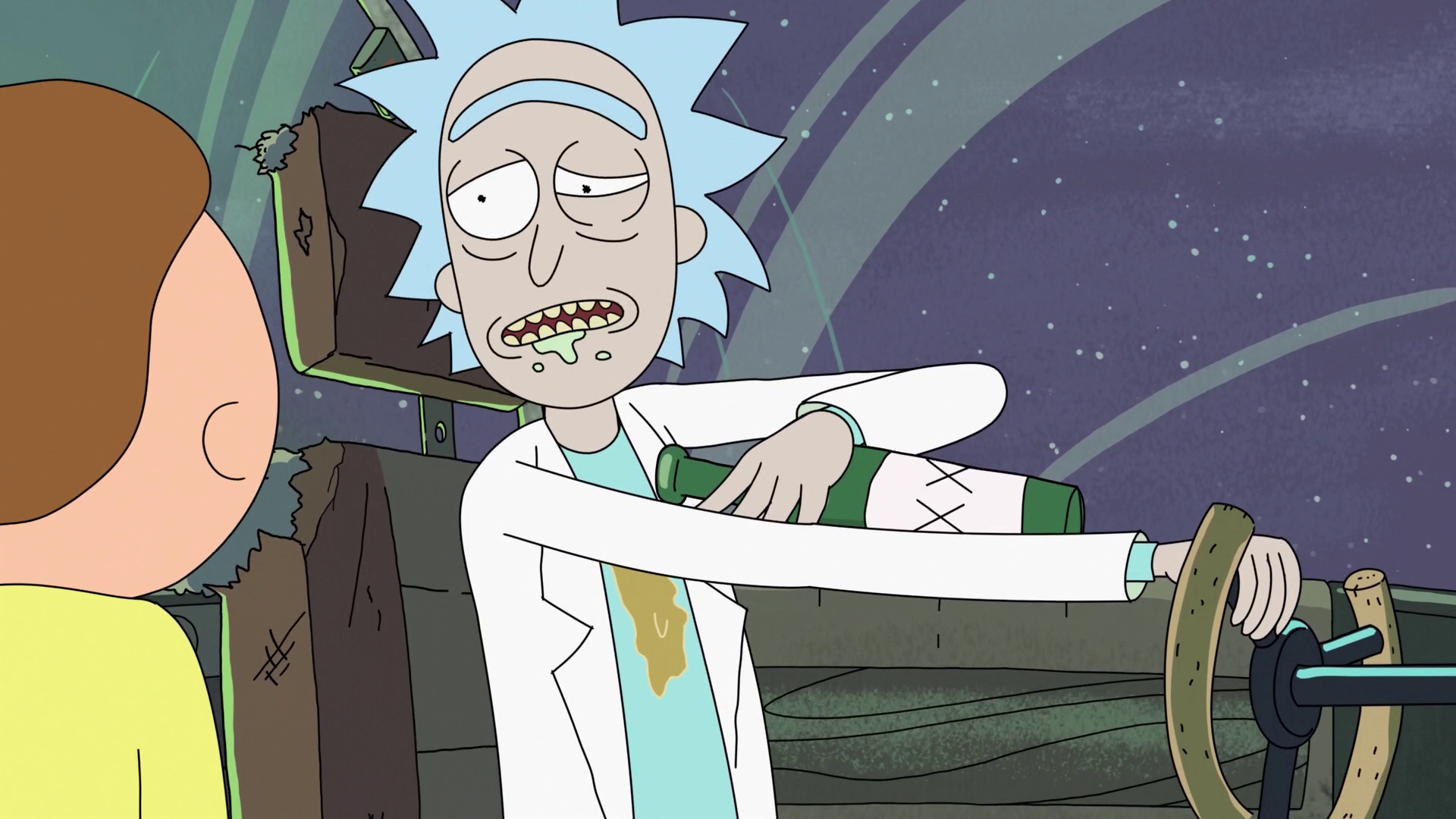 Probably Rick's most frequent crime is driving under the influence.