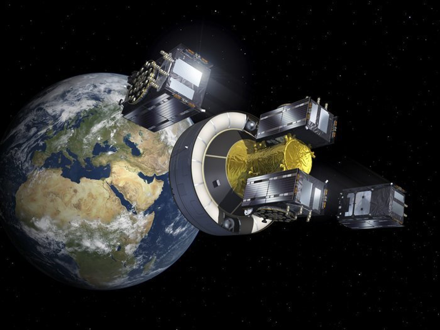 The four Galileo satellites successfully separated and are healthy.
