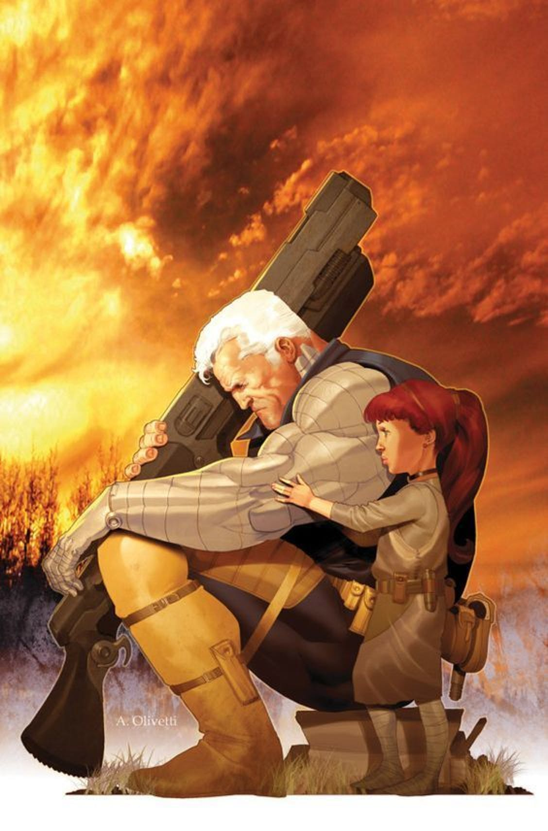 Cable and Hope travel together for quite some time.
