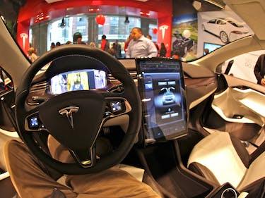 Sliding inside the Tesla Model X