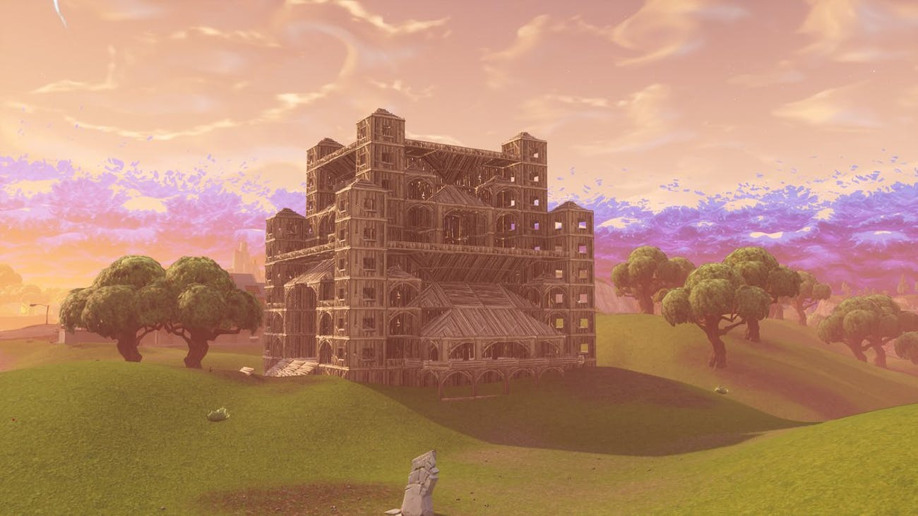 "'Fortnite"" Castle in Playground"