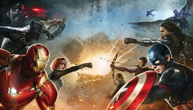 Team Cap and Team Iron Man in 'Captain America: Civil War'