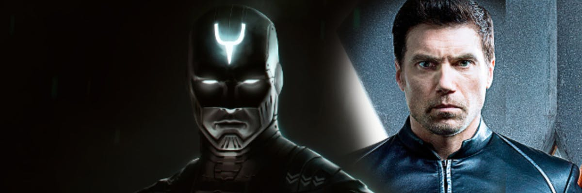Anson Mount as Black Bolt, the mute King of the Inhumans.