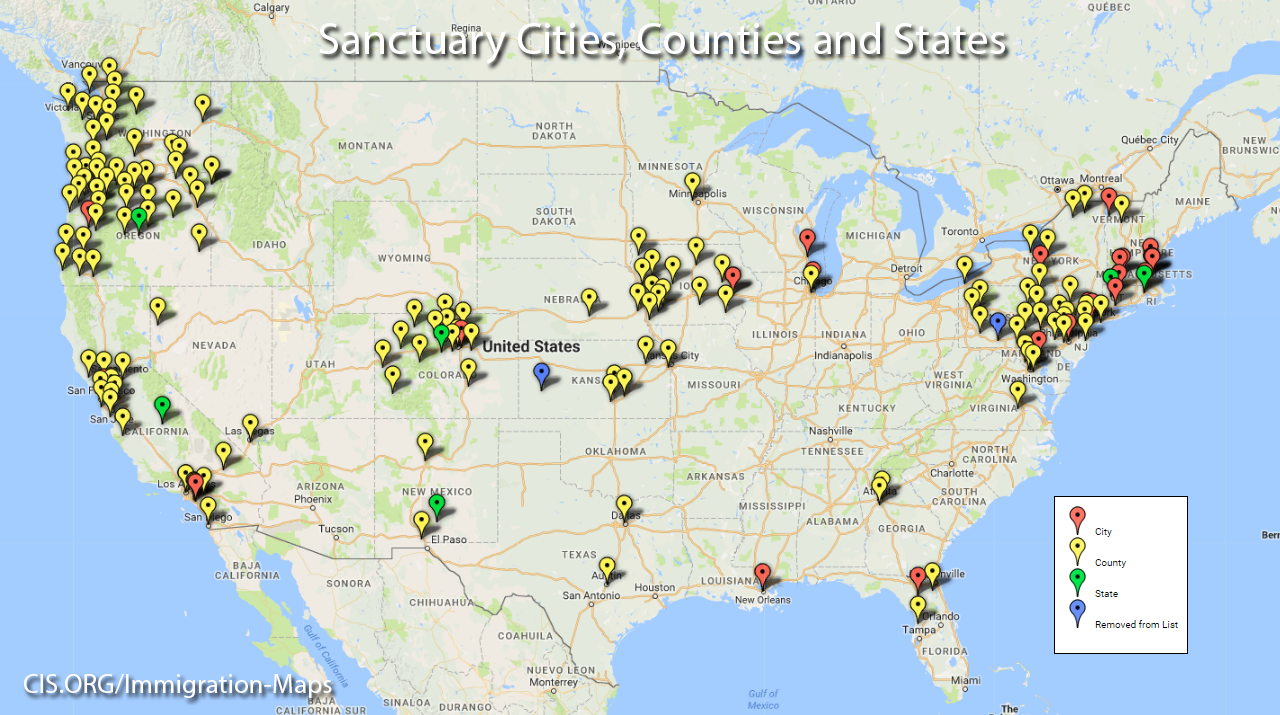 These sanctuary jurisdictions have laws ordinances regulations resolutions policies or other practices that obstruct immigration enforcement and shield criminals from ICE